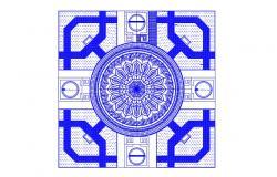 2D Drawing Landscape Design Plans AutoCAD File