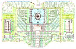 2D Drawing Of Master Plan Of Landscape Design AutoCAD File