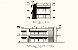 2D Drawing of Guest house with different Elevation in AutoCAD