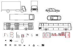 2D Dynamic vehicle transport block design drawing
