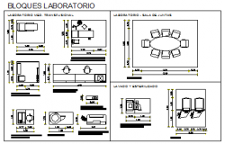 2D block of Laboratory design drawing