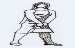 2D block of female design drawing