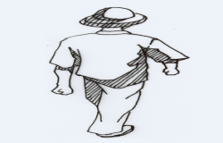 2D block of walking man