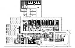 2D drawing of Hotel with full details of interior design and section in autocad