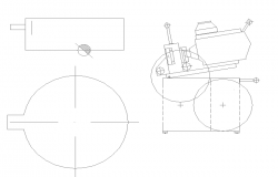 2D elevation design of a projector dwg file