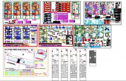 Completed cad drawings set of building construction