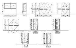 2d Door Design in AutoCAD