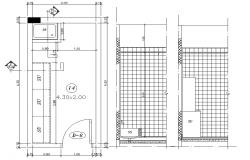 2d Floor Plan Layout of Kitchen CAD Drawing