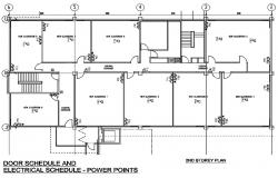 2d classroom electrical plan in dwg file