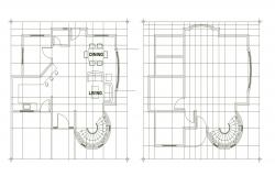 2d design of a residential house in dwg file