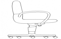 2d elevation of office chair
