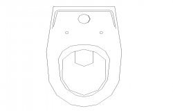 2d view English sitting toilet detail elevation layout file