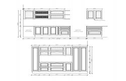 2d view of Kitchen interior  autocad file