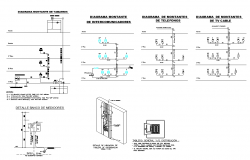 2d view of electrical installation layout dwg file