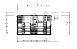 2d view of terrace plan detail layout file
