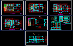Modern apartment building dwg.