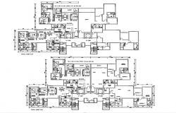3 BHK Apartment Plan DWG File