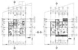 3 BHK Bungalow Design AutoCAD Drawing Plan