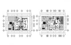 3 BHK Home Wiring Plan Architecture CAD Drawing