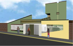 3 D Side elevation view detail dwg file