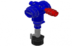 3 D Transmitter pressure equips of instrumentation detail dwg file