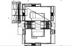 3 D building tower plan detail dwg file