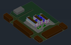 3 D commercial Plan detail dwg file