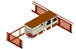 3 D commercial building plan detail dwg file