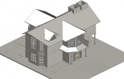 3 D home detail dwg file