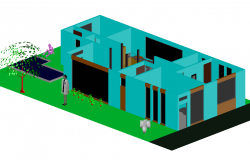 3 D home plan detail