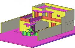 3 D house detail