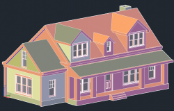 3 D house detail dwg file
