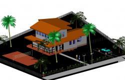 3 D house plan autocad file