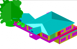 3 D house planing detail dwg file