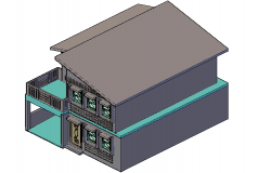 3 D house planning detail dwg file