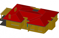 3 D housing plan detail dwg file