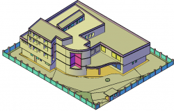 3 D office plan detail dwg file