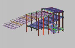 3 D steel structural detail dwg file