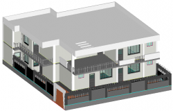 3 D view factory detail dwg file