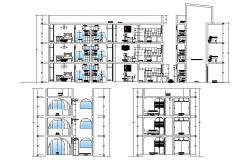 3 Story Apartment Plan DWG File