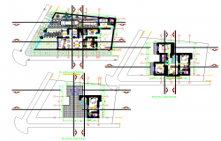 3 Story House Layout plan dwg file