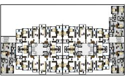 3 bhk apartment Architecture drawing in autocad dwg files