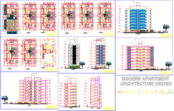 3 bhk apartment floor plan and architecture detail