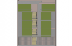 3 d apartment building plan detail dwg file