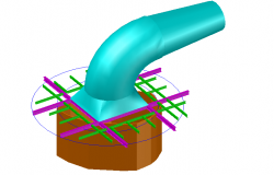 3 d grid and elbow ventilation autocad file