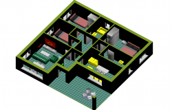 3 d house interior plan detail