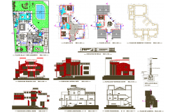 3 floor Villa project with all detailing dwg file