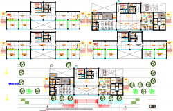 3 floor police stations architecture plan