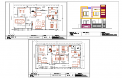 30'X50' House plan autocad files