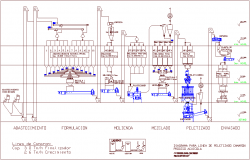 30000 liters row material process plant plan with architecture view dwg file